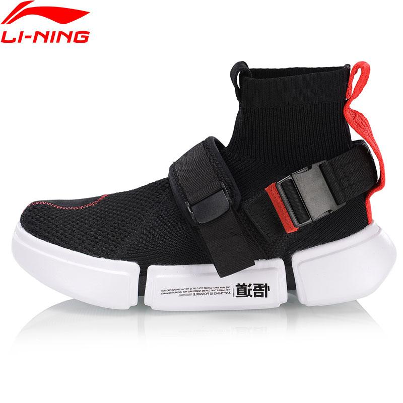 Li-ning mujeres ESSENCE 2 hebilla arriba GS baloncesto cultura zapatos calcetín-como forro Flexible Zapatos de deporte Zapatillas AGBP052 SJAS19