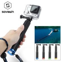 Pour GoPro selfie bâton en caoutchouc anti-dérapant en aluminium extensible pôle plié étanche selfie bâton pour héros pour SJCAM pour Xiaomi yi