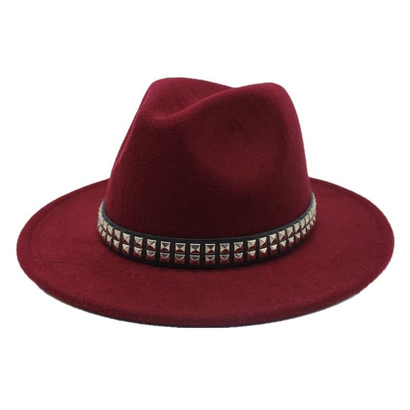 OZyc צמר נשים גברים פדורה כובע עבור אדון אלגנטי ליידי חורף סתיו תקליטונים קלושים רחב ברים ג 'אז הכנסייה סנדק סומבררו
