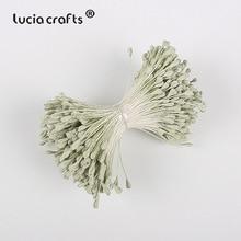 Lucia artisanat 3mm mat double tête   Artisanat, fleur, pistil, décoration de gâteau, artisanat bricolage C1202, 330 pièces