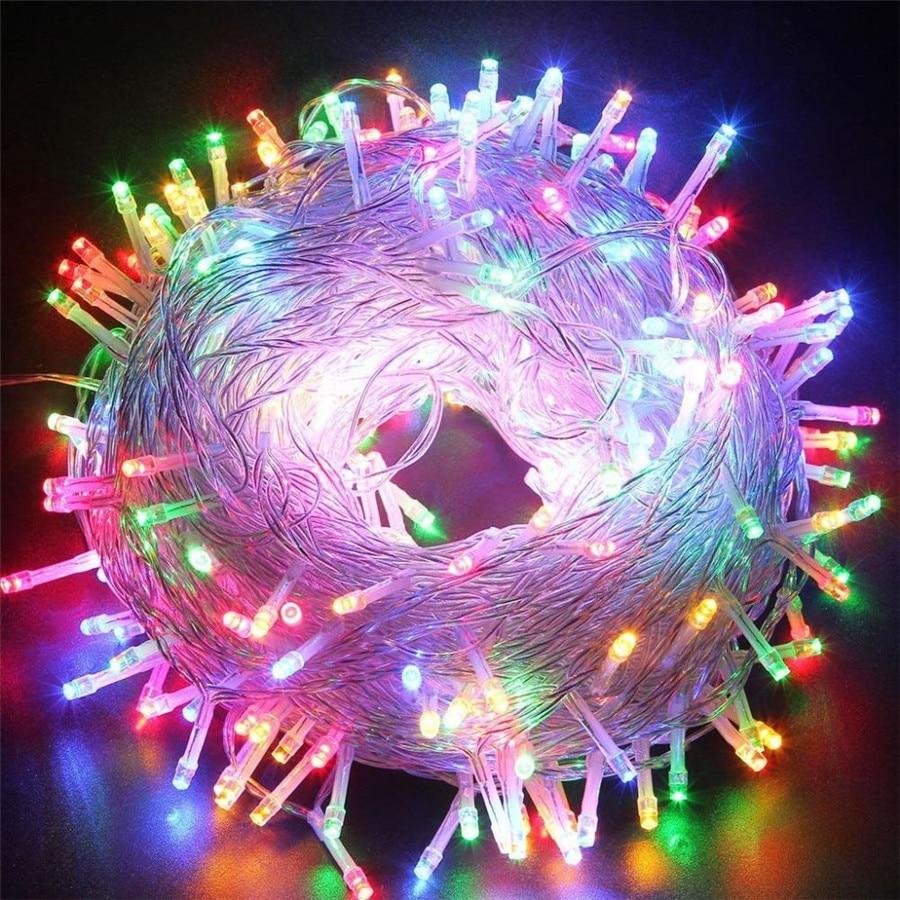 Crăciun cu LED-uri în aer liber 100m 20m 10m 5m lumini de zână - Luminări festive - Fotografie 2