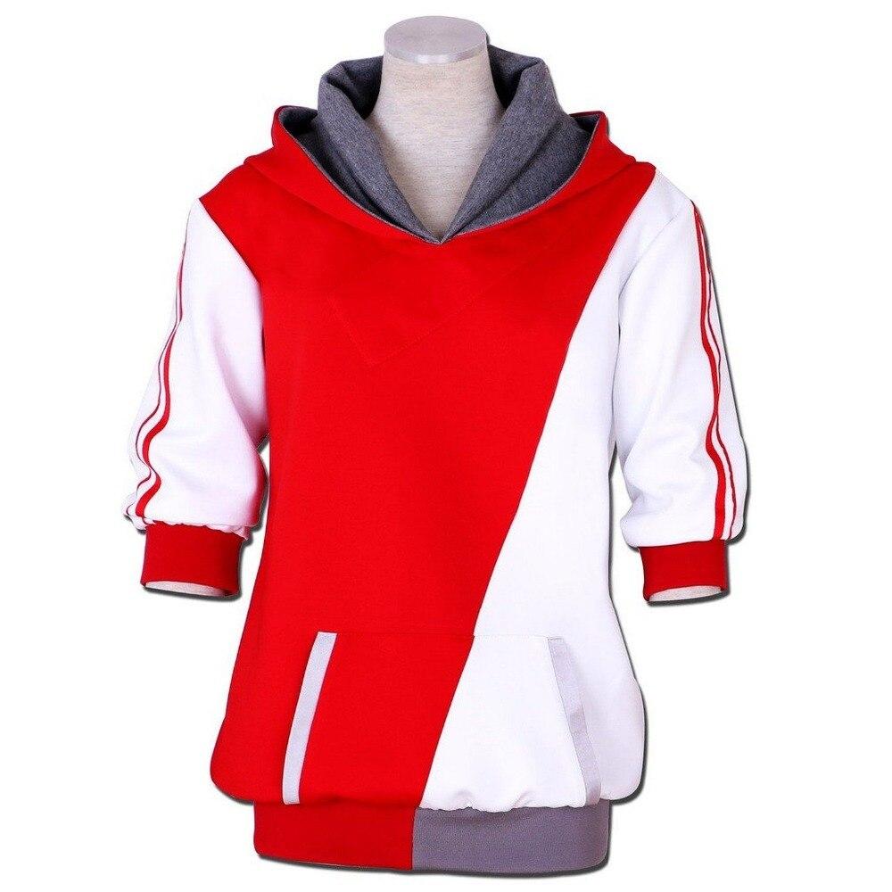 Тренировочный костюм для косплея, красный и белый цвета