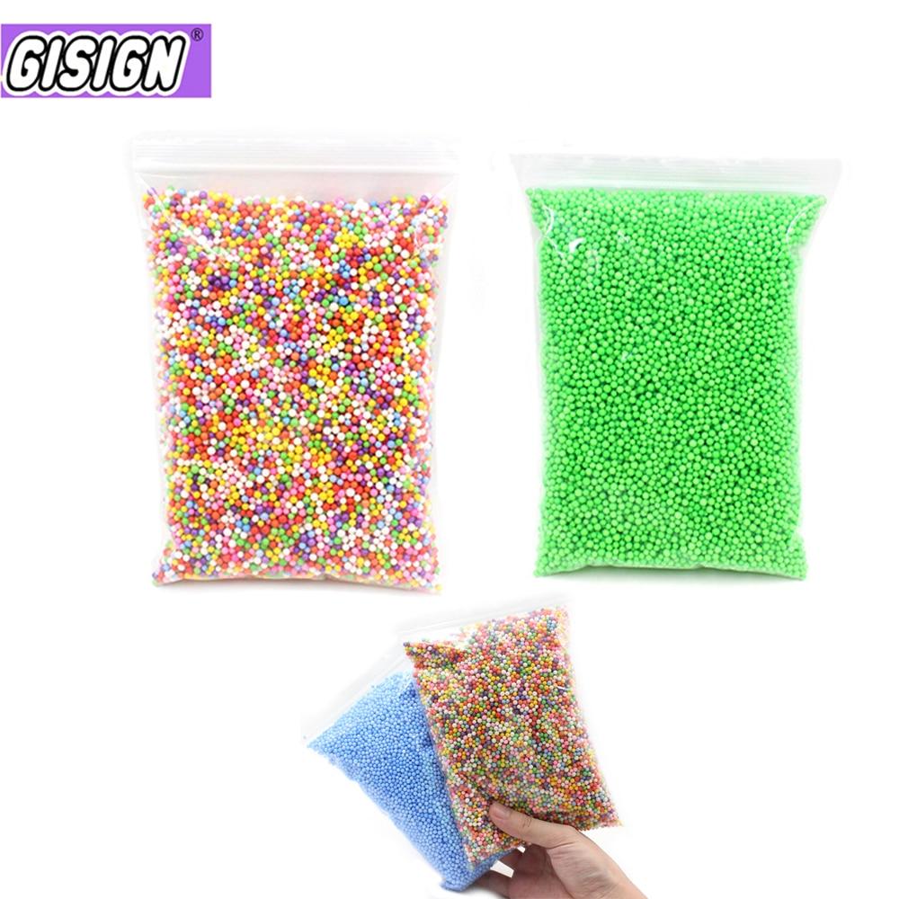 Enchimento de bolas de espuma de argila mini para grânulos de lodo encantos coloridos adição partículas de lama acessórios de lodo anti-stress brinquedos suprimentos