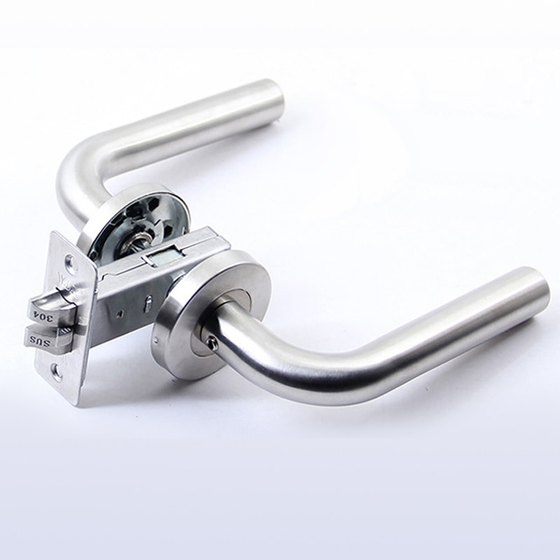 قفل باب من الفولاذ المقاوم للصدأ 304 ، بدون مفتاح ، لباب داخلي ، غرفة نوم ، حمام ، DLDS001