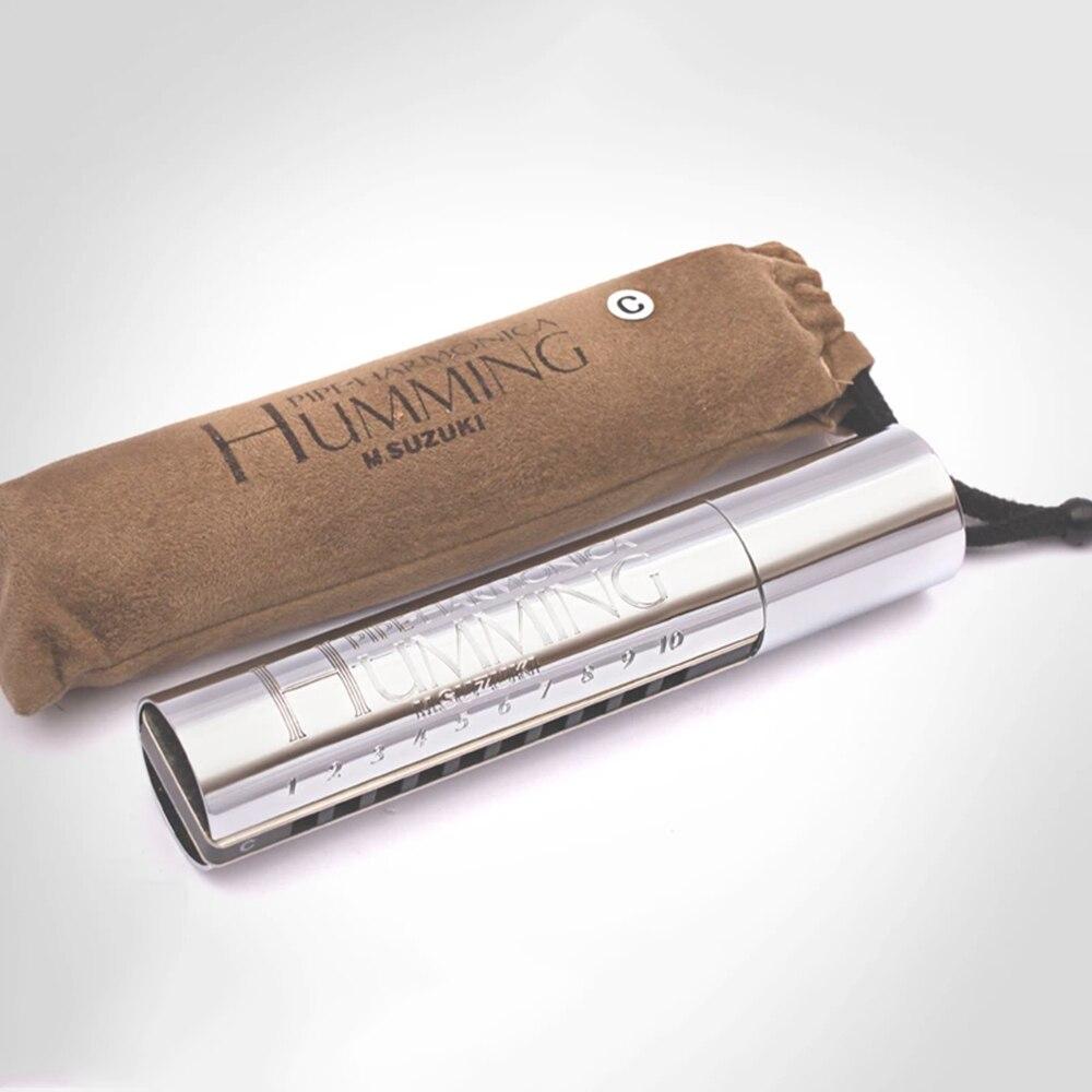 Tubo de PH-20 Suzuki Humming Easy Vibrato Diatonic harmónica 10 agujeros clave de C Blues arpa aluminio peine Windwood instrumentos musicales