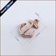 Breloques en gros bijoux fins 50 pièces 15*11mm KC ton or ancre breloques pendentifs résultats pour la fabrication de bijoux breloques XSP07
