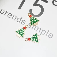 20pcslot drop oil charms christmas tree jewelry accessories diy charms christmas tree accessorie
