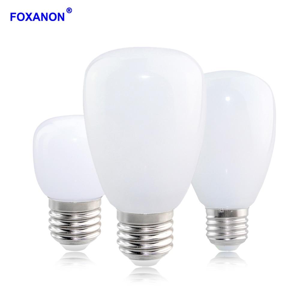 Foxanon LED Lamp E27 High Lumen 3W 5W 7W 10W 12W AC220V Led Bulb Light Ampoule LED Glass Body White / Warm White For Home Decor