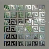 Зеркальные 3D наклейки «сделай сам» 5*5 см, современный акриловый настенный Декор, декоративные настенные Стикеры для детской комнаты, гостин...