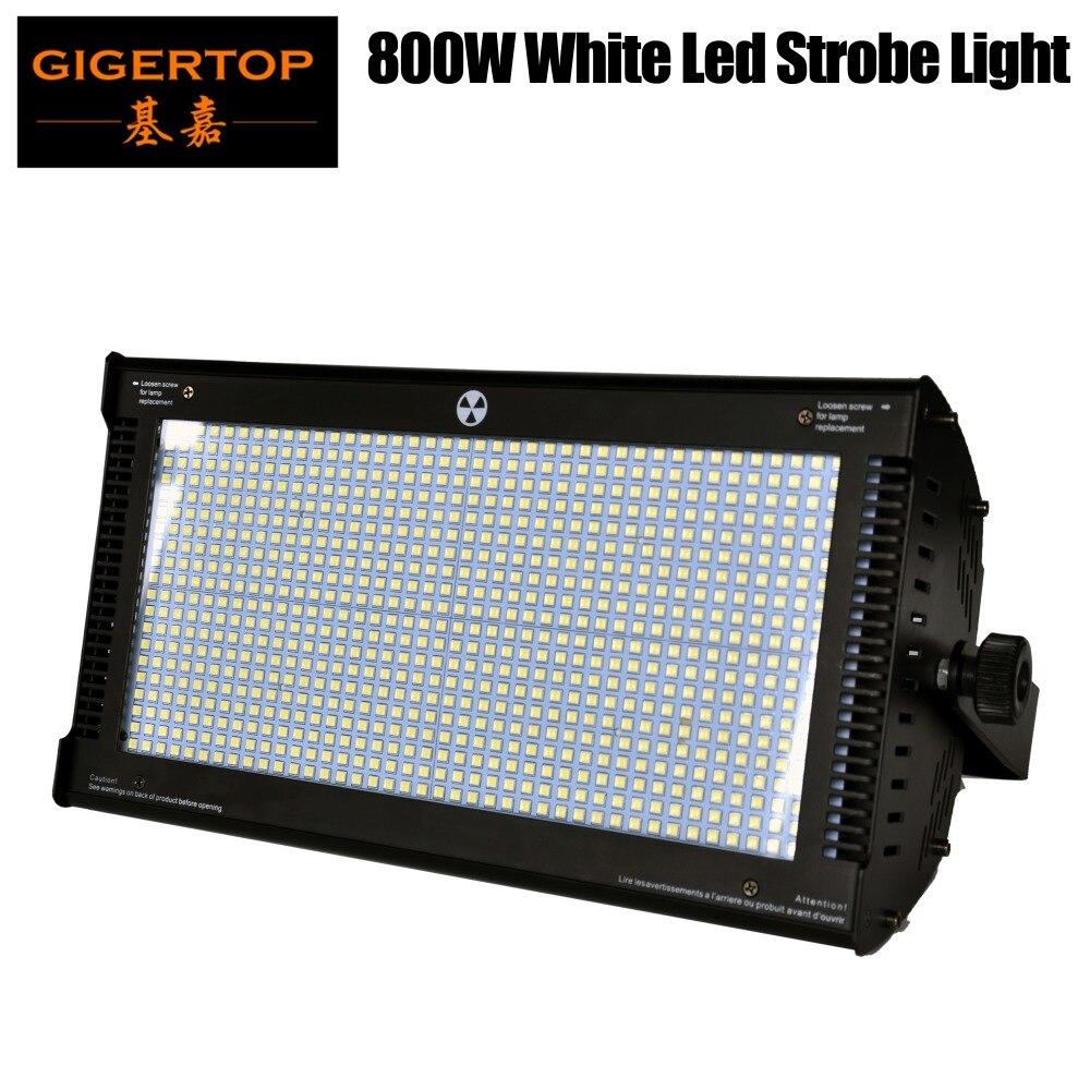 Gigertop TP-S800 800x1W os-ram Color blanco LED proyector luz estroboscópica para Club DE DJ Disco KTV Stage Party DMX 5 canales CE ROHS