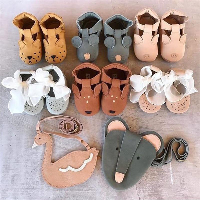 EnkeliBB Animal Leather Baby Walker Shoes Genuine Leather New Born baby Shoe Panda/Bear/Bunny Austra