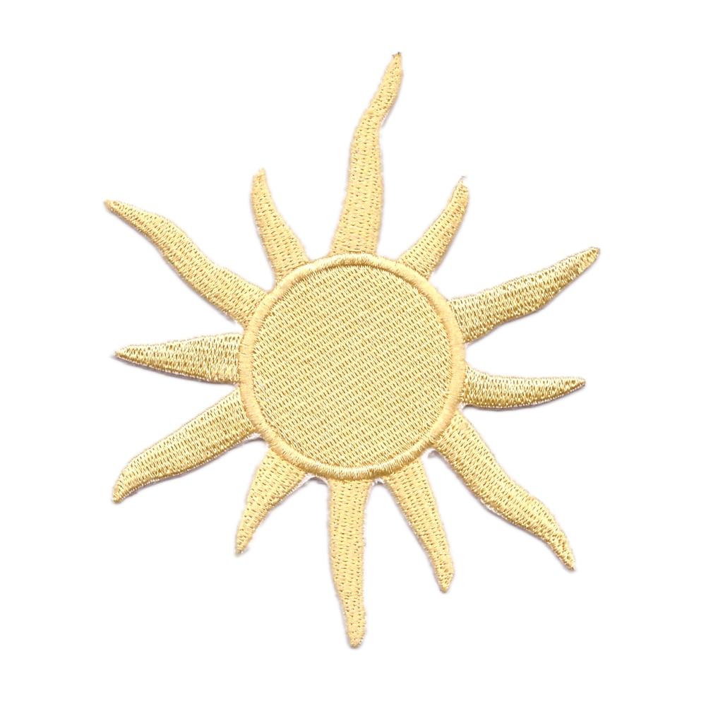 10 Uds recién llegados de estrellas celestes parche bordado de sol dorado o ropa chaqueta bordado suministros de costura