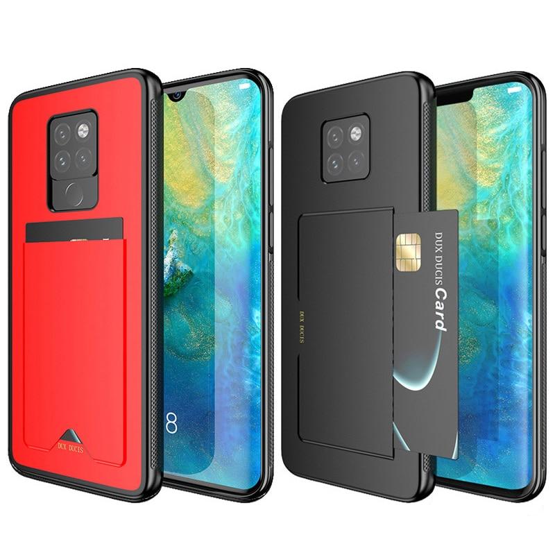 Funda para Huawei Mate 20 Pro PU cuero TPU parachoques cartera cubierta protectora tarjeta de crédito ranura bolsillo soporte teléfono móvil bolsa