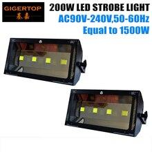 China Stage Light Supplier 2XLOT Led 200W Automic DMX Strobe Light Equal 1500W Power Black Color Casting Master Slave DMX Mode