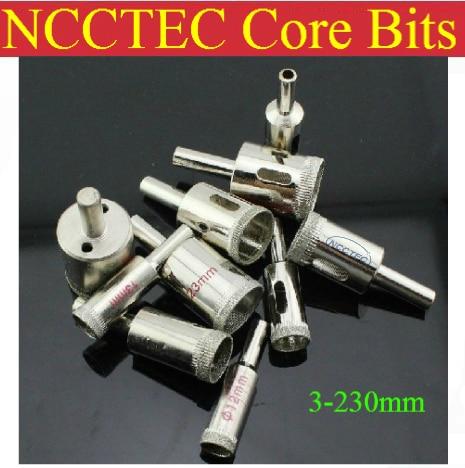 230mm 9'' inch NCCTEC Electroplated Diamond core drill bits ECD230 FREE shipping   WET glass ceramics coring tools