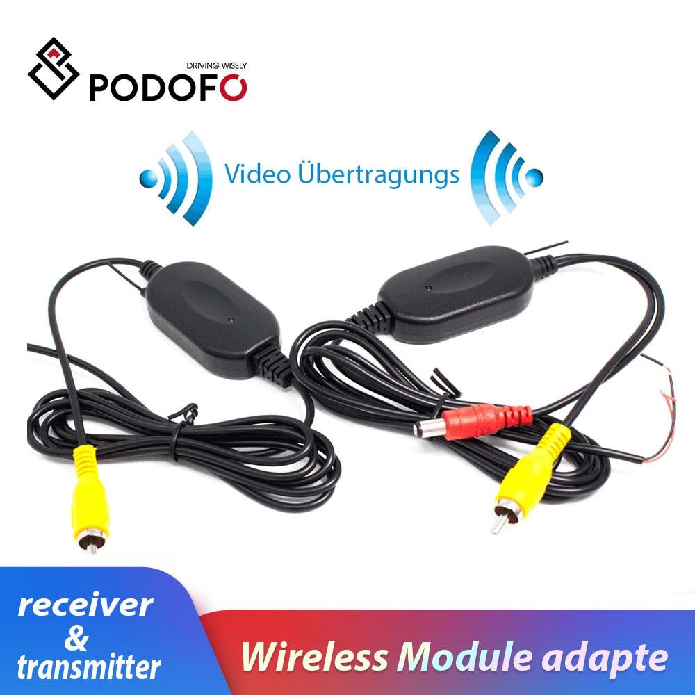 Podofo 2,4G беспроводной модуль адаптер приемник и передатчик на задний вид автомобиля камера заднего вида