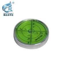 Bubble level meter mini small metal horizontal beads high precision level bubble round level level 60*12mm
