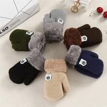 New Arrival Winter Baby Boys Girls Knitted Gloves Warm Rope Full Finger Mittens Gloves For Children Toddler Kids