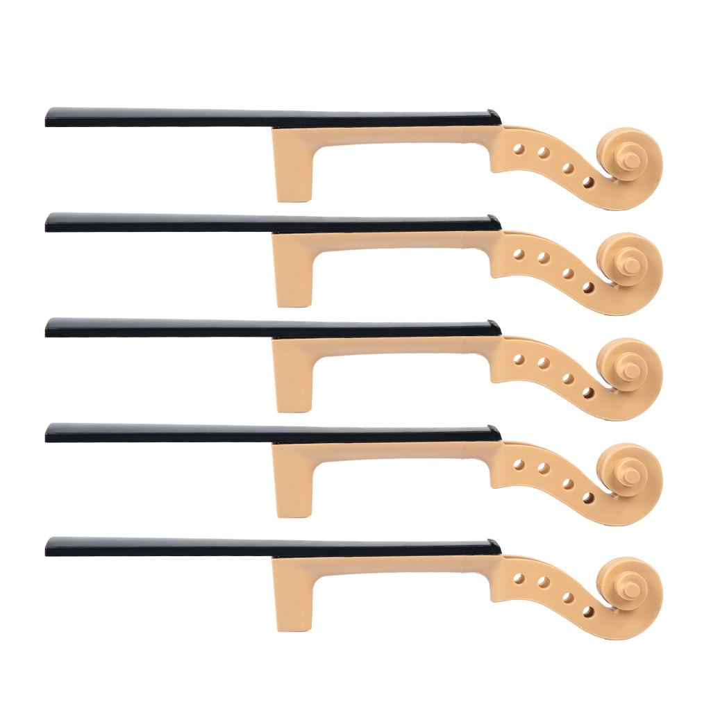 4/4 Exquisite Unfinished Solid Wood Violins Blank Neck Fingerboard Luthier Tools enlarge