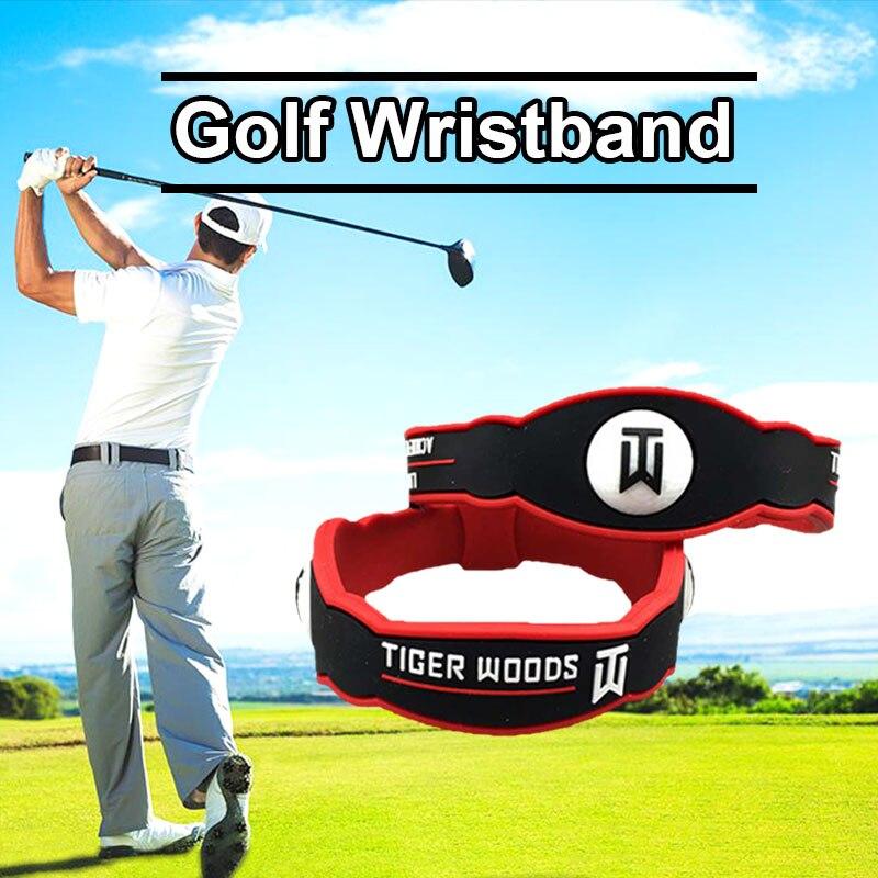 Pulsera de silicona para Golf, Color negro y rojo, venta al por mayor, muñequera de Golf Energy para hombres y mujeres, accesorios para entrenamiento MJ