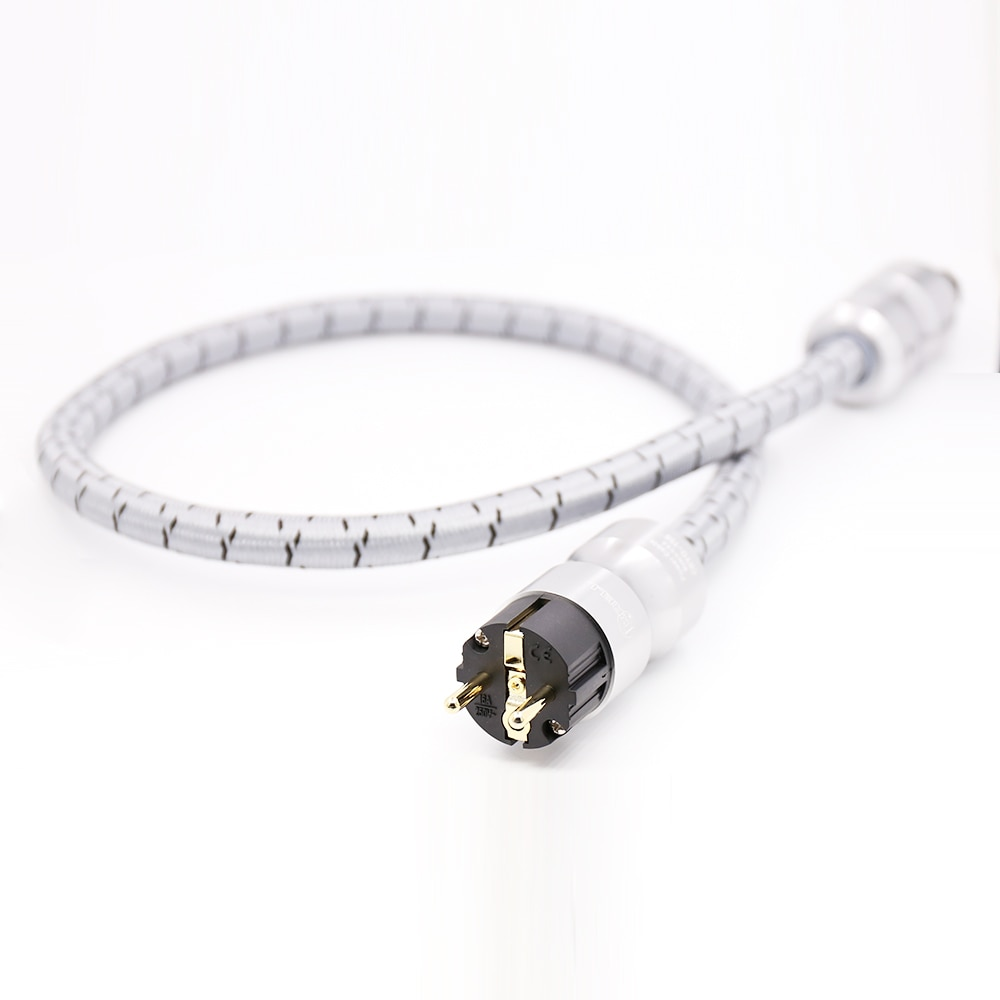 1.5M hifi Power cable CRYO-156 HiFi audio gold plated plugs EU AC power cord Power cable