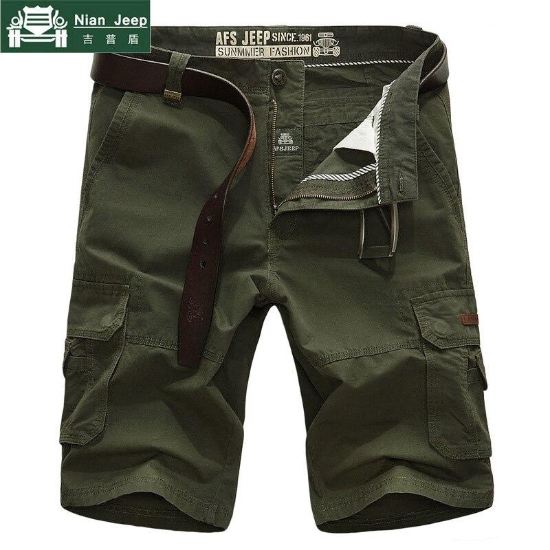 Pantalones cortos Cargo de marca para hombre, pantalones cortos holgados de varios bolsillos, pantalones cortos militares del Ejército para hombre, Bermudas, pantalones cortos tácticos sin cinturón