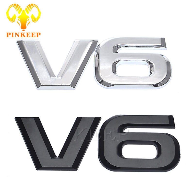 3D логотип автомобиля наклейка эмблема авто значок наклейка для V6 Mercedes BMW Audi VW Ford Fiesta Mustang Ranger Nissan Toyota Honda Стайлинг