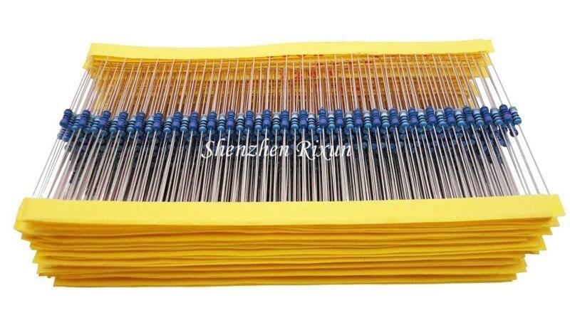 Mejor Precio 100 piezas Paquete de resistencia 47 ohm 1/4 W 47R resistencia de película de Metal 47ohm 0,25 W 1% para Arduino envío gratis DropShipping. exclusivo.