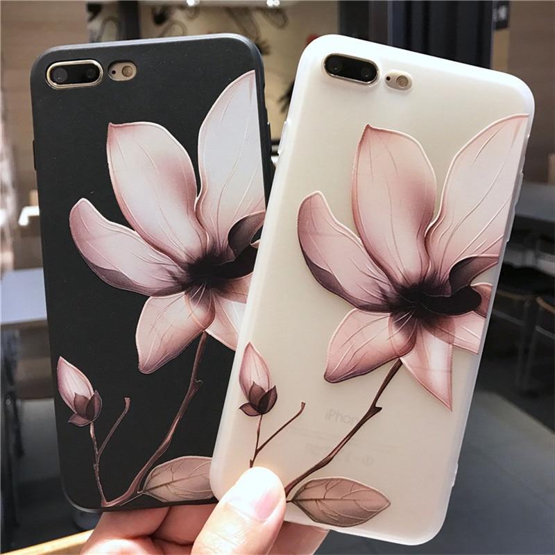 3D Relief Rose Peony Flower Cover For Huawei Nova 2i 3 3i 5T P10 lite P20 P30 Pro Honor 8 9 Mate 10 20 Lite silicone soft Case