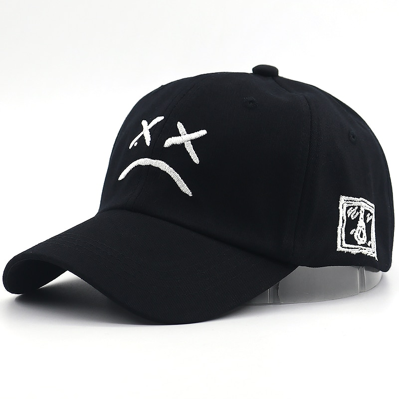 New sad face baseball cap embroidery fashion sad boy dad hat cotton adjustable snapback hats women men summer spring caps