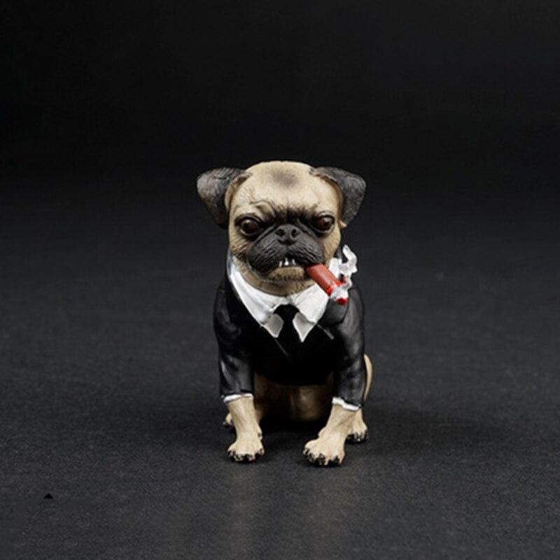1/6 as032 adorável pug cão com charuto modelos animais para 12figures figures figuras de ação cena acessórios brinquedos presentes