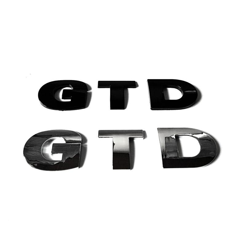 ABS Plastic GTD Auto Stickers Emblems Badges Logos