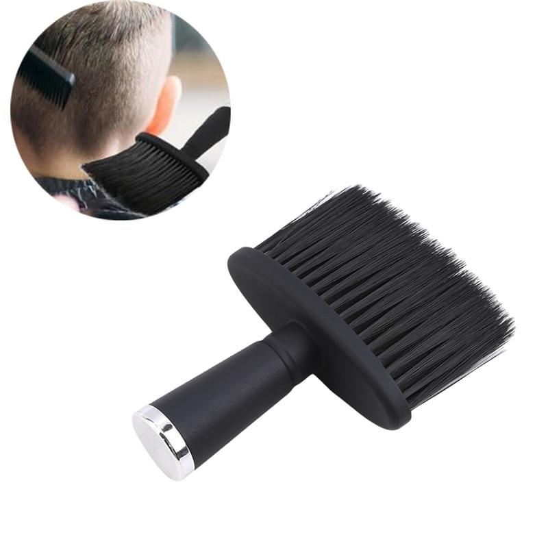 Professional Soft Black Neck Face Duster Brushes Barber Hair Clean Hairbrush Beard Brush Salon Cutti