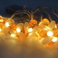 bee led string light 2040 leds battery power light string party wedding christmas garland decoration led garland fairy lights
