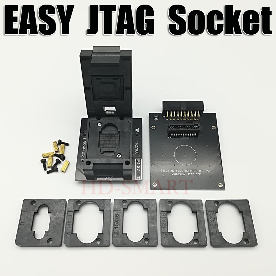 Original JTAG fácil PLUS caja EMMC hembra BGA153/169 BGA162/186 BGA221... BGA529 envío gratis