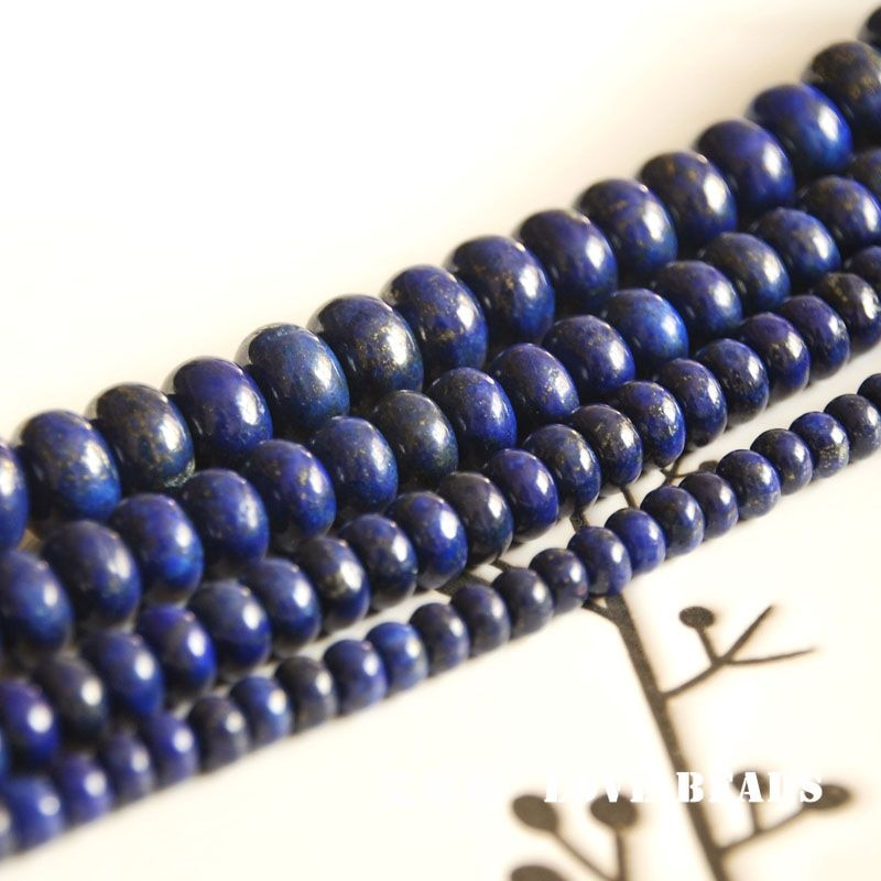 """Venta al por mayor 14,5 """"38cm teñido lapislázuli disco rondelle espaciador cuentas sueltas fabricación de joyas DIY para mujeres"""