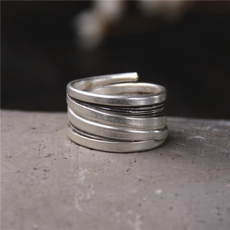 2018 venta Anel Feminino S925 puro Chiang Mai, tailandia hombres y mujeres de personalidad estilo que restaura maneras antiguas anillo mano