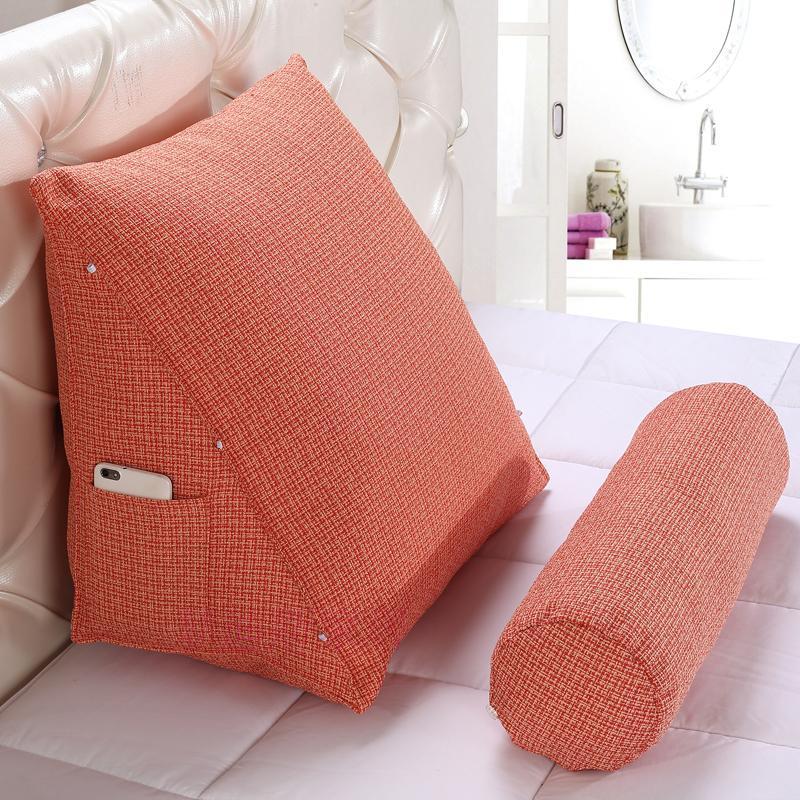 Cojín triangular Ihave estéreo para cama, respaldo, protección Lumbar y cuello, cojín para Tatami, sofá, cabecera, sofá, almohada para cabecera