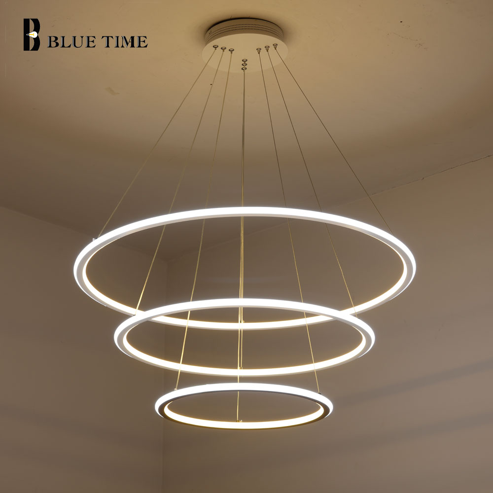 Lámpara colgante de luz LED, moderna, con lámpara colgante de techo para sala, comedor, cocina, dormitorio, luminarias para el hogar