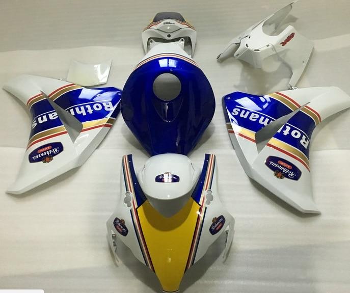 قولبة بالحقن باللون الأبيض والأزرق لـ H 08 09 10 11 CBR1000RR CBR 1000 RR CBR 1000RR 2008 2009 2010 2011 ريبسول