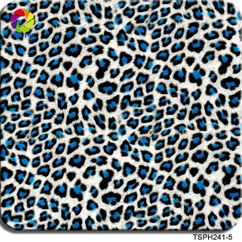 Бесплатная доставка TSAUTOP ширина 0,5 м гидрографическая водная переводная печатная пленка леопардовая печать гидро погружная пленка WDF241-5