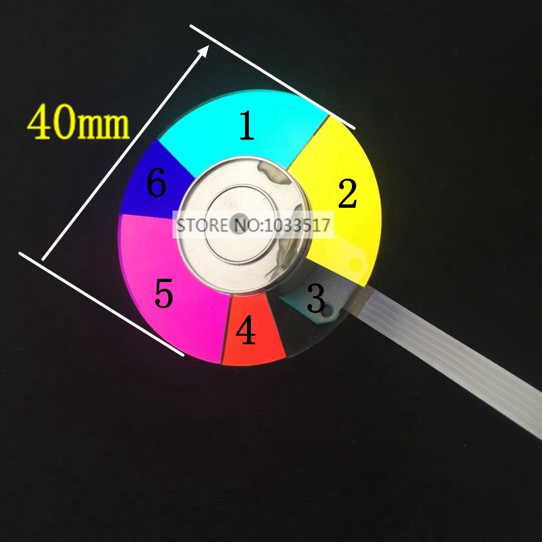 عجلة جهاز عرض ملونة لجهاز العرض optoma S312 S313 S315 ، قطر 40 مللي متر ، 6 ألوان