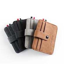 แฟชั่นผู้ชายหนังIDผู้ถือบัตรเครดิตกระเป๋าสตางค์เหรียญกระเป๋าสตางค์Slim Moneyกระเป๋าMulti-Cardตำแหน่ง...