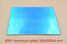 Алюминиевый лист, толщина 300 мм x 300 мм, 4 мм, 300x300x4, сплав diy, 1 шт., 6061