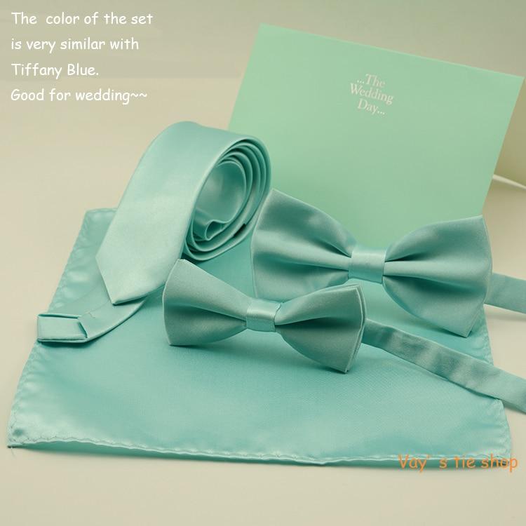 Мужской тонкий галстук-бабочка мятно-зеленого цвета, набор галстуков на свадьбу, TiffanyBlue-like Bowties