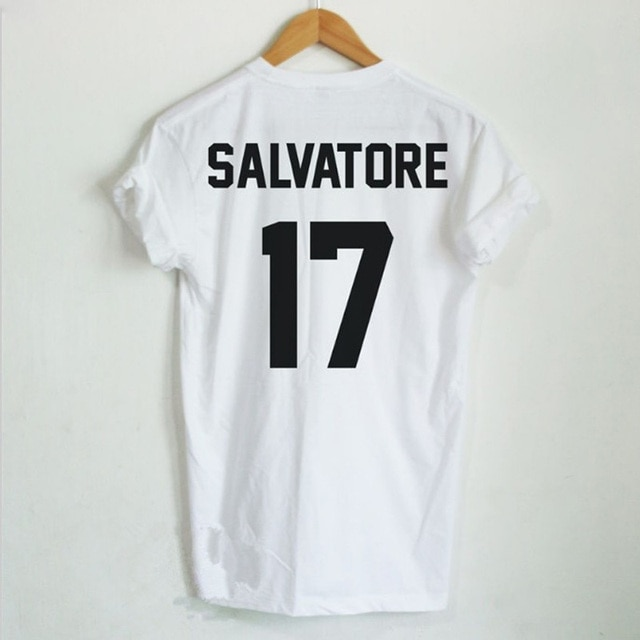 Casual Salvatore 17 Camiseta Año De Nacimiento Vampire Diaries Mystic Falls Tops Camiseta Gráfica Camisas Tumblr Camiseta Para Hombres Mujeres Tshirts For Men Tee Shirtt Shirt T Shirt Aliexpress