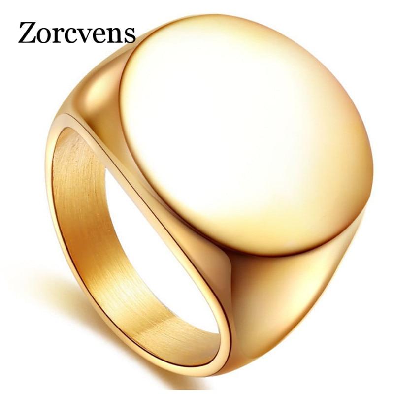 Мужское кольцо из нержавеющей стали ZORCVENS, однотонное байкерское кольцо из нержавеющей стали 316L, 2019