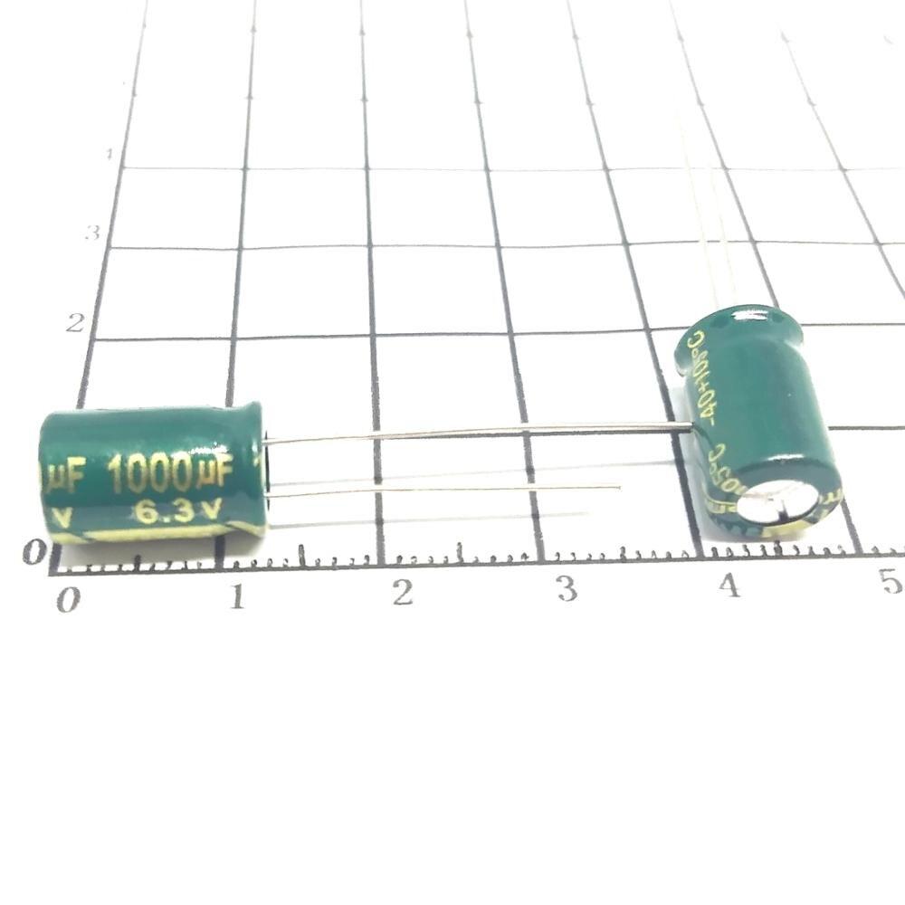Alta calidad 500 unids/lote 1000 UF 6,3 V volumen 8*12 mail Dip condensadores electrolíticos 1000 UF 6,3 V IC...