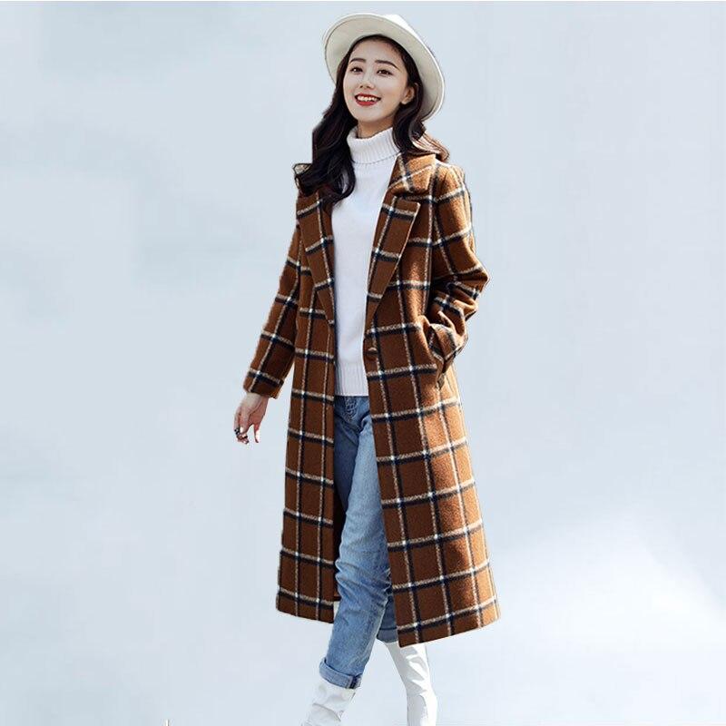 Abrigo de lana para mujer, nueva tienda de moda, abrigo a cuadros...