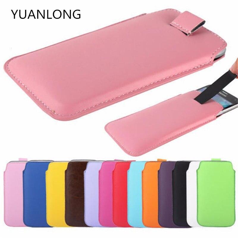 "YUANLONG 4,5 ""tira de cuero universal bolsa teléfono caso para Jiayu G2F blackview Breeze V2 ZOPO ZP330 UMI X1S protectora completa"